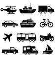 Transport collection set vector image