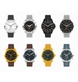 watch set Expensive classic watches vector image