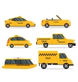 Taxi Service Car Set vector image