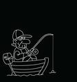 Cartoon Fisherman vector image vector image