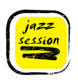 jazz session stamp vector image vector image