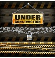 Under construction sign  lock vector image vector image