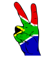 Peace Sign of the South African Flag vector image