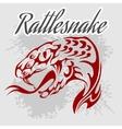 Rattlesnake - vintage artwork for wear vector image