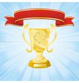 golden cup banner vector image vector image