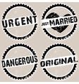 black grunge stamps vector image vector image