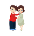 Happy pregnant woman and her husband vector image