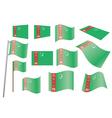 flag of Turkmenistan vector image vector image