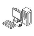 desk computer 3d vector image