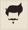 I love vintage hipster mustache and hair style vector image