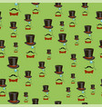 mustaches and accessories seamless pattern vector image