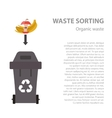 Organic waste sorting flat concept vector image