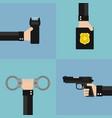 police modern design flat set vector image