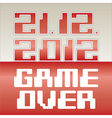 Game Over vector image vector image