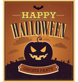 Happy Halloween typographic design vector image vector image