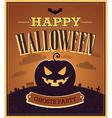 Happy Halloween typographic design vector image