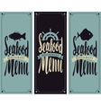 menu for seafood restaurant vector image vector image