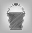 bucket sign for garden pencil sketch vector image