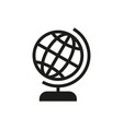 Globe icon on white background vector image