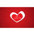 Beautiful red heart background vector image