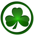 icon shamrock in the circle vector image vector image