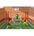 School soccer game Kids playing soccer vector image