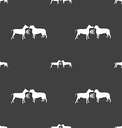 Betting on dog fighting icon sign Seamless pattern vector image