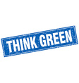 think green blue square grunge stamp on white vector image