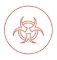 Bio hazard sign line icon vector image