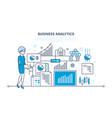 business analytics data analysis statistic vector image