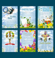 easter egg hunt invitation flyer template set vector image