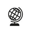Globe icon on white background vector image