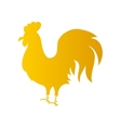 Gold Rooster Silhouette vector image