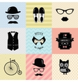 Hipster Vintage Cute Fashion Background vector image
