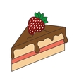 piece of cake dessert vector image