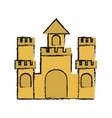 sand castle icon image vector image