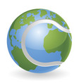 world globe tennis ball concept vector image vector image