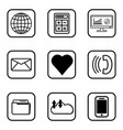 03 services icons set on white background vector image