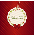 Christmas present label red vector image vector image