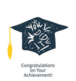 Greeting Card With Congratulations Graduate vector image