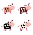 cartoon cows vector image vector image
