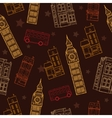 London Symbols Brown Seamless Pattern With vector image