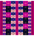 pink ethnic motifs vector image