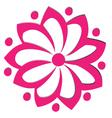 Pink flower logo vector image vector image