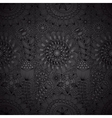 black floral lace wallpaper vector image