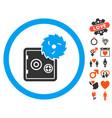 break safe icon with lovely bonus vector image