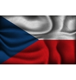 crumpled flag of Czech Republic on a light vector image