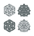 design tattoo in geometric tessellation style vector image