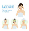 face care vector image
