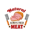 Fresh meat Butcher shop restaurant emblem vector image
